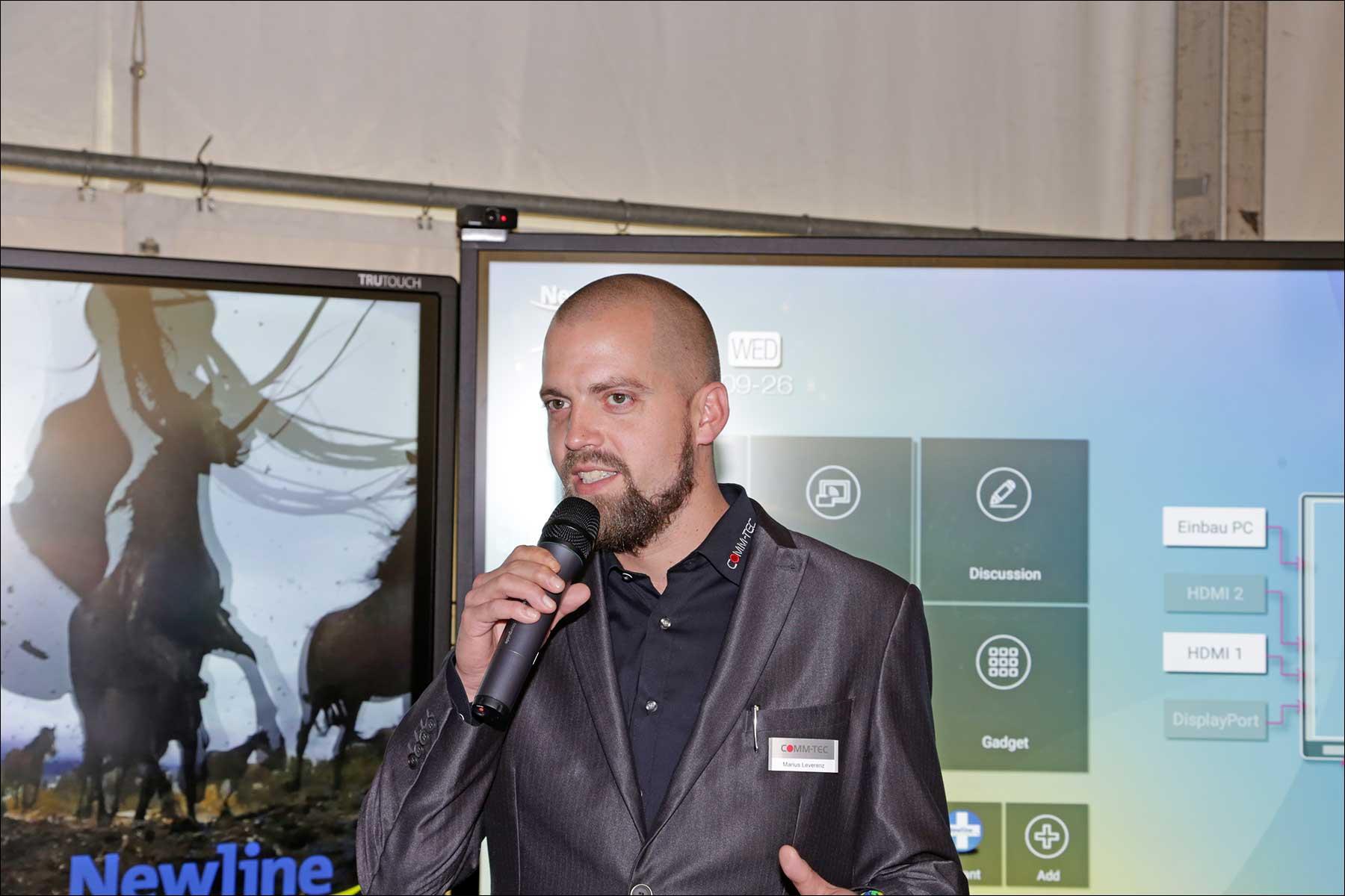 Marius Leverenz beim COMM-TEC S14 Solutions Day 2018