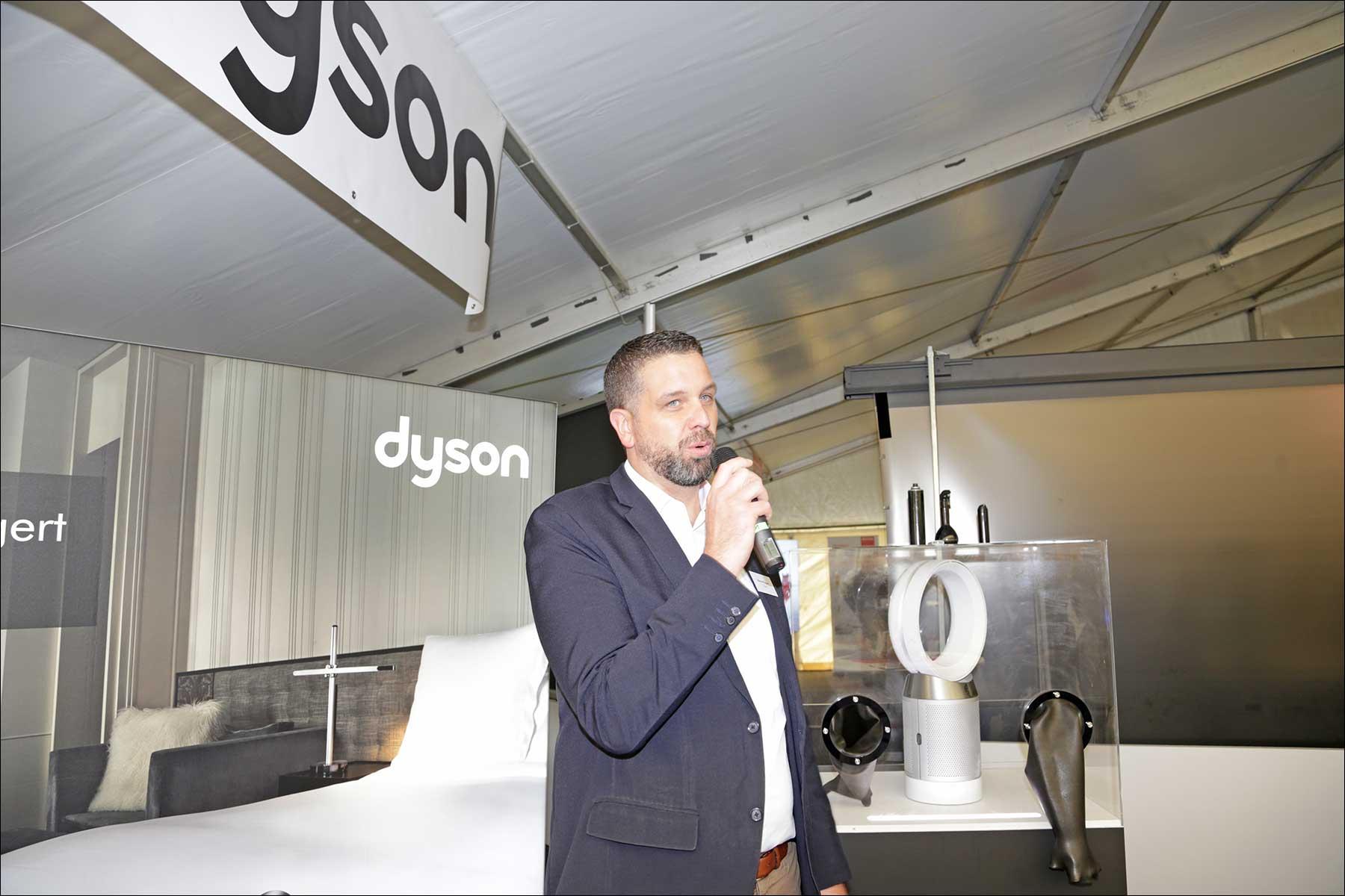 Manuel Ruppert von Dyson beim COMM-TEC S14 Solutions Day 2018