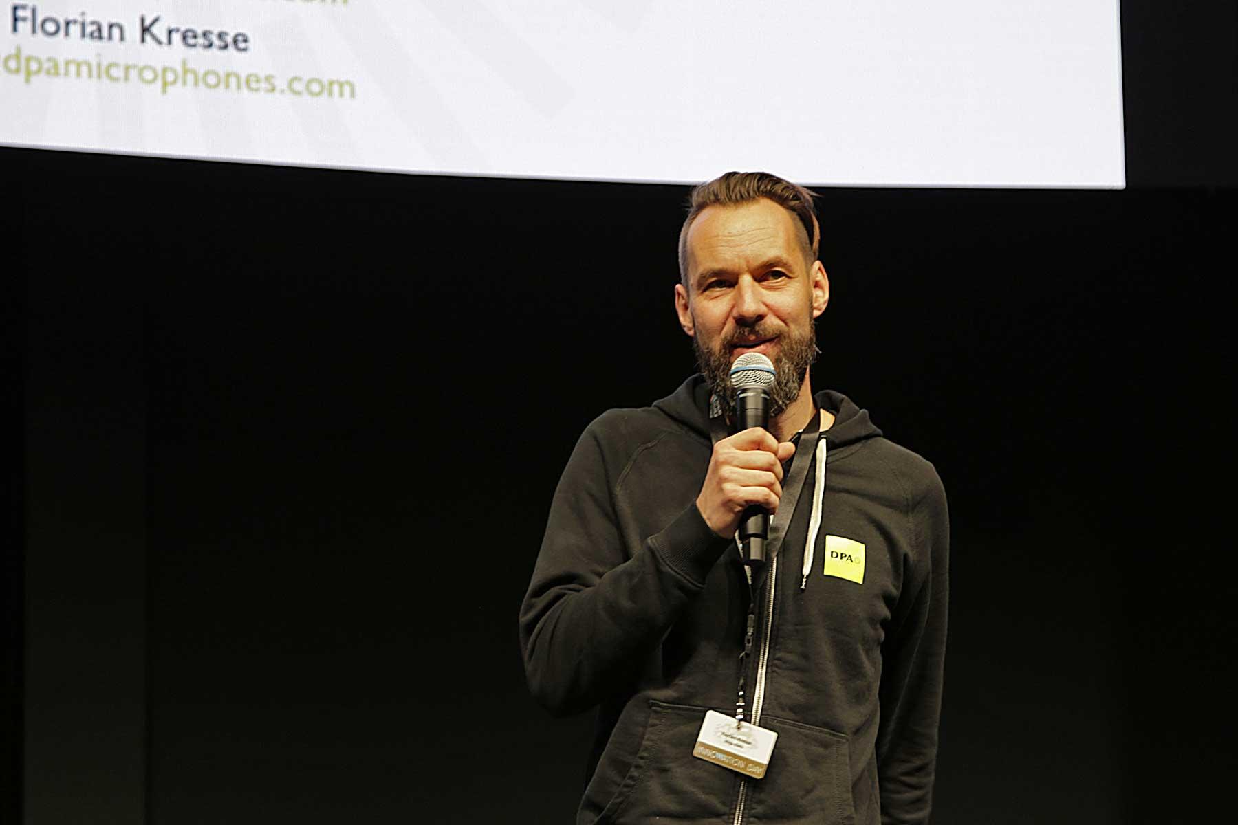 Florian Kresse kümmert sich bei Mega Audio um DPA Mikrofone.
