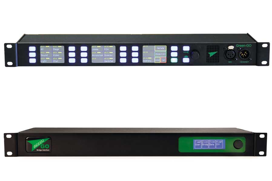 Die MCX-32-Kanal-Rack-Station und das BRIDGEX-Bridge-Interface von Green-GO.