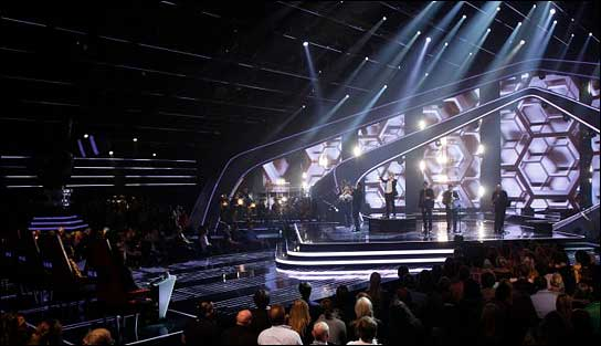 "Manuel da Costas Lichtdesign bei ""The Voice on Germany 2012"""