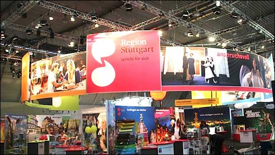GEMCO beleuchtet Messestand der Stuttgart-Marketing GmbH.