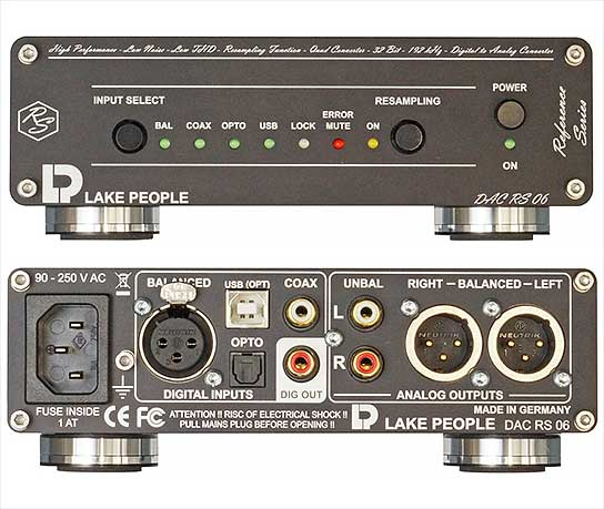 Lake People - Reference Series: Digital to Analog Converter DAC RS 06