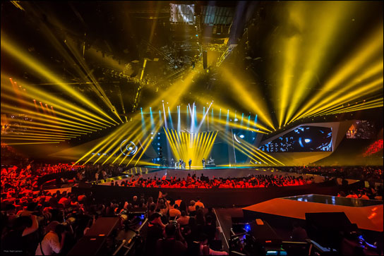 Das Licht beim Eurovision Song Contest 2012 in Baku